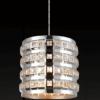Lámpara colgante metalica con cristal 1 luz