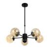 lampara esferica 5 luces