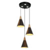 lampara de cono  3 luces