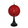 lampara de esfera roja